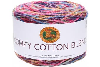 (Flower Garden) - Lion Brand Comfy Cotton Blend Yarn