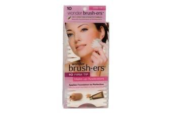 Wonder Brush-ers Make-up Applicators - 10 Firm Tip - White