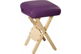 MT Wooden Folding Massage Stool, Purple