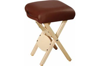 MT Wooden Folding Massage Stool, Chocolate