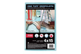(4x15 Feet) - Trimaco One Tuff Professional Grade Dropcloth, 1.2m by 4.6m, 90099