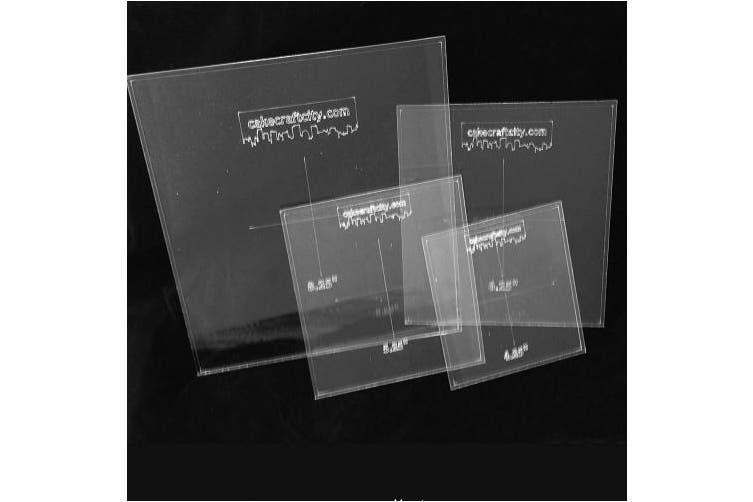 (Square 7.25inch) - Round Square Ganaching Plate Acrylic Ganache Board Disc Cake Decorating (Square 18cm )