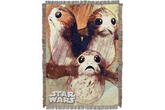 """(Little Guys) - Disney Star Wars: The Last Jedi, """"Little Guys"""" Woven Tapestry Throw Blanket, 120cm x 150cm , Multi Colour"""