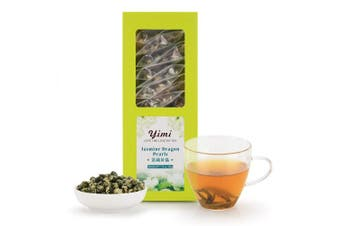 YIMI Imperial Jasmine Dragon Pearls Tea,Organic Jasmine Loose Leaf Green Herbal Tea, Fresh Aroma, With Elegant Gift Box, 230ml