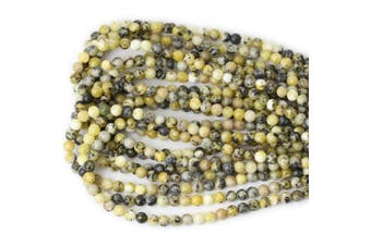 (6mm, Yellow Turquoise) - CHEAVIAN 60PCS 6mm Natural Yellow Turquoise Gemstone Round Loose Beads Stone Beads for Jewellery Making DIY Materials 1 Strand 15""
