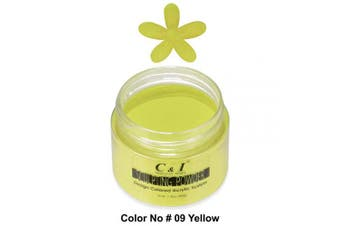 C & I Acrylic Powder, 9 Yellow, 3 D Nail Flower, Sculpting Nail Powder, 40ml, 40 g