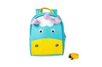 (Pink Horn Unicorn) - Animal Buckle Safety Harness Leash Water Resistant Preschool Backpack