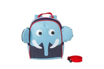 (Baby Blue Elephant) - Animal Buckle Safety Harness Leash Water Resistant Preschool Backpack