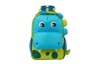 (Green Spotted Dinosaur) - Dimensional Animal Shape Water Resistant Preschool Toddler Backpack