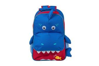 (Ocean Blue Shark) - Dimensional Animal Shape Water Resistant Preschool Toddler Backpack