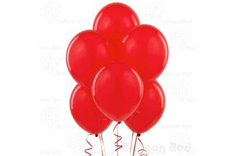 (25cm  Pack of 100, Red) - 25cm Latex Balloons (Premium Helium Quality), Pack of 100, Red