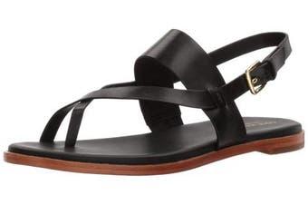 (4.5 UK, Black) - Cole Haan Women's Anica Thong Flat Sandal, Pewter Metallic, 7.5 UK