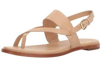 (5 UK, Nude) - Cole Haan Women's Anica Thong Flat Sandal, Pewter Metallic, 7.5 UK
