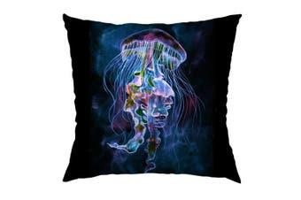 (Color 68) - Moslion Jellyfish Pillow Home Decorative Throw Pillow Cover Case Beautiful Jellyfish Satin Square Cushion Cover Standard Pillow Case for Women Men Girls Kids Boy Sofa Bedroom Livingroom 46cm x 46cm ,Multi