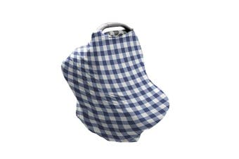 (Buffalo Check) - Bebe au Lait 5-in-1 Cover - Infinity Scarf, Car Seat Cover, Shopping Cart Cover, Carrier Cover and Nursing Cover - Buffalo Cheque