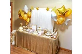 (230cm  x 230cm , Matte Gold) - B-COOL Matte Gold big sequin tablecloth 230cm x 230cm sequin tablecloths sequined tablecloth sequin fabric for Wedding Dessert Table