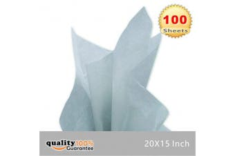 (Gray) - 38cm X 50cm Gift Wrap Tissue Paper Grey- 100 Sheets by PMLAND