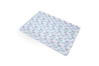 Baby Trend Aqua/Grey/White Drip Drop Play Yard Sheet