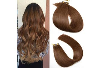 (60cm , #4 Chocolate Brown) - SeaShine Tape in Hair Extensions #4 Chocolate Brown 100% Remy Human Hair Extensions Silky Straight for Fashion Women 20 Pcs/Package(60cm #4 60g)