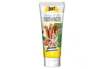 (Sweet Cinnamon, Six Month Supply 150g) - New The Dirt Sweet Cinnamon Coconut Oil Toothpaste | All Natural with Essential Oils, MCT Oil, Fluoride Free | Sweet Cinnamon 6 Month Supply