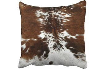 (18x18, Multi 2) - Musesh brown and white cowhide art print lumbar pillow Cushions Case Throw Pillow Cover For Sofa Home Decorative Pillowslip Gift Ideas Household Pillowcase Zippered Pillow Covers 46cm x 46cm