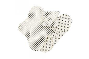 (Black Dots, Regular (9x24,5cm)) - ImseVimse Washable Women Sani Military Pads