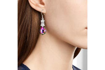 AOBOCO S925 Silver Women Girls Dangle Drop Earrings, Crystals Earrings for Her on Mother's Day Birthday, Crystals from