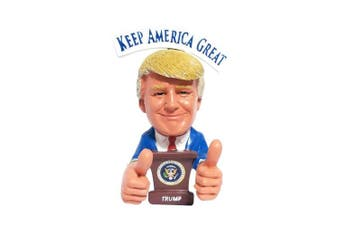 """Donald Trump Bobblehead – Thumbs Up 2020 Presidential Election – President Trump Reversible Political Gag Gift """"Keep America Great"""" & """"Make America Great"""" On Each Side"""
