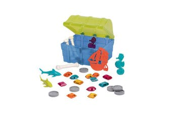 Battat – Pirate Diving Set – Assortment of 27 Pool Toys in a Storage Treasure Hunt Pool Game for Kids (28 Pcs)