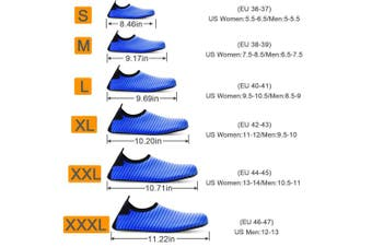 (S (US Women:5.5-6.5/Men:5-5.5), Blue) - Bridawn Water Shoes for Women and Men, Quick-Dry Socks Barefoot Shoes