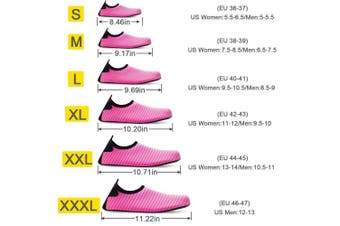 (S (US Women:5.5-6.5/Men:5-5.5), Rose) - Bridawn Water Shoes for Women and Men, Quick-Dry Socks Barefoot Shoes