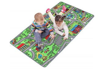 """Click N' Play Large Non-Slip City Life Kids Playmat Rug, Fun, Educational, for Play area, Playroom, Bedroom-53"""" x 39"""""""