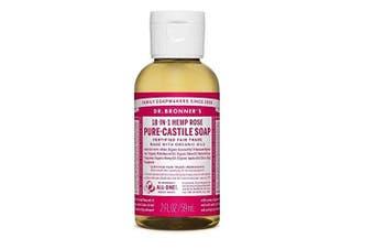 (N/A, 60ml) - Dr. Bronner's Organic Rose Pure-Castile Liquid Soap 12 Bottles