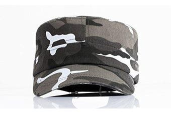 (Grey) - Afinder Mens Teen Boys Camouflage Baseball Cap Sun Protection Large Visor Cotton Sun Hats Headwear Breathable Outdoor Sports Cycling Camping Fishing Hunting Travel Beach Tennis Golf Baseball Hat Cap