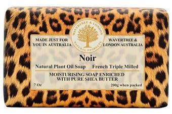 Wavertree & London Noir (1 bar) -Triple-milled (twice) Shea Butter soap Bar -Rich & Creamy Lather