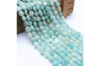 (Amazonite) - Love Beads Amazonite Stone Beads Irregular Loose Gemstone Beads 8-11 mm for Jewellery Making