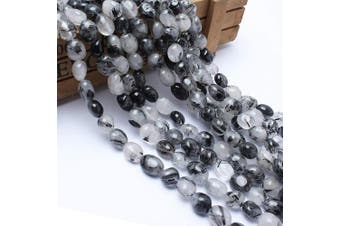 (Black Rutilated Quartz) - Love Beads Black Rutilated Quartz Beads Irregular Loose Gemstone Beads 8-11 mm for Jewellery Making