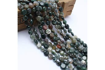 (India Agate) - Love Beads Indian Agate Stone Beads Irregular Loose Gemstone Beads 8-11mm for Jewellery Making