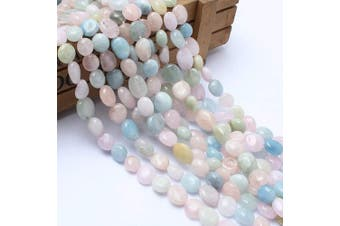 (Morganite) - Love Beads Morganite Stone Beads Irregular Loose Gemstone Beads 8-11 mm for Jewellery Making