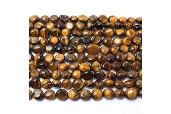(Yellow tiger eye) - Love Beads Yellow Tiger Eye Stone Beads Irregular Loose Gemstone Beads 8-11 mm for Jewellery Making