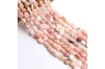 (Pink Opal) - Love Beads Pink Opal Stone Beads Irregular Loose Gemstone Beads 8-10mm for Jewellery Making