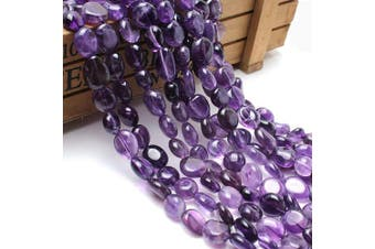 (Amethyst) - Love Beads Natural Amethyst Stone Beads Irregular Loose Gemstone Beads 8-11 mm for Jewellery Making