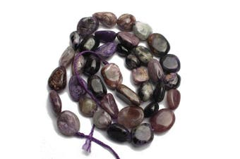 (Charoite) - Love Beads Stone Beads Irregular Loose Gemstone Beads 8-11mm for Jewellery Making (Charoite)