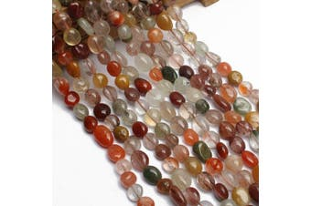 (Mix Rutilated Quartz) - Love Beads Stone Beads Irregular Loose Gemstone Beads 8-11mm for Jewellery Making (Rutilated)
