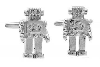 Ashton and Finch Robot Cufflinks in Presentation Box. Novelty Sci-Fi Film Theme Jewellery
