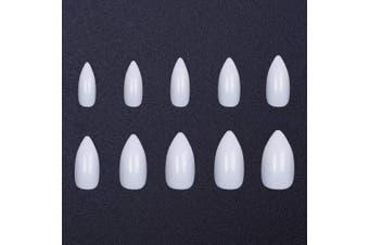 (white) - 600pcs False Nails Full Cover Long Almond 10 Size Clear Professional Fake Nails (white)