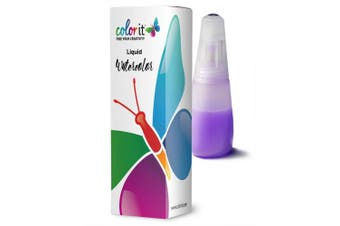 (BROWN) - ColorIt Liquid Watercolour Ink 30ml Bottle Hearty Brown C149 - Vibrant, Water-Based Dye Ink Colours, Non-Toxic, Watercolour Refills for ColorIt Watercolour Brush Pens