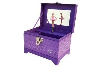 (Heart Ballerina Music Box - Purple) - My Tiny Treasures Box Co. Heart Ballerina Music Box - Purple