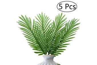 Artificial Tropical Palm Plants Leaves Greenery Palm Tree Leaves for Party Wedding Outdoors Decorations/5Pcs