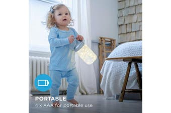 MyBaby Walk-A-Bout Portable Nightlight Lantern, Bedside Lamp, Firefly Jar, Auto-Off Fairy Lights, Fun Design, Soft Glow for Infants, Babies, Toddlers, and Children, 4 x AAA Batteries for Portable Use